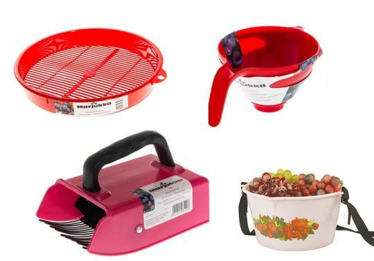 инструменты для сбора и обработки ягод