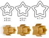 Двухсторонние формочки звёзды DELICIA, 6 размеров 630864