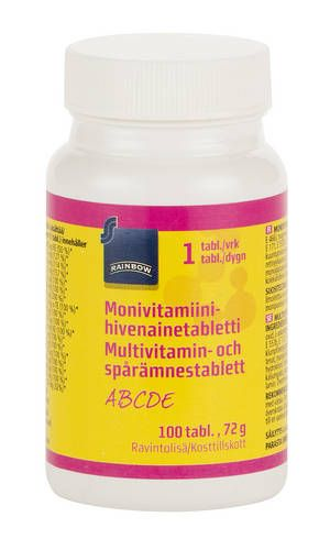 Rainbow Monivitamiini 100 шт 62 гр