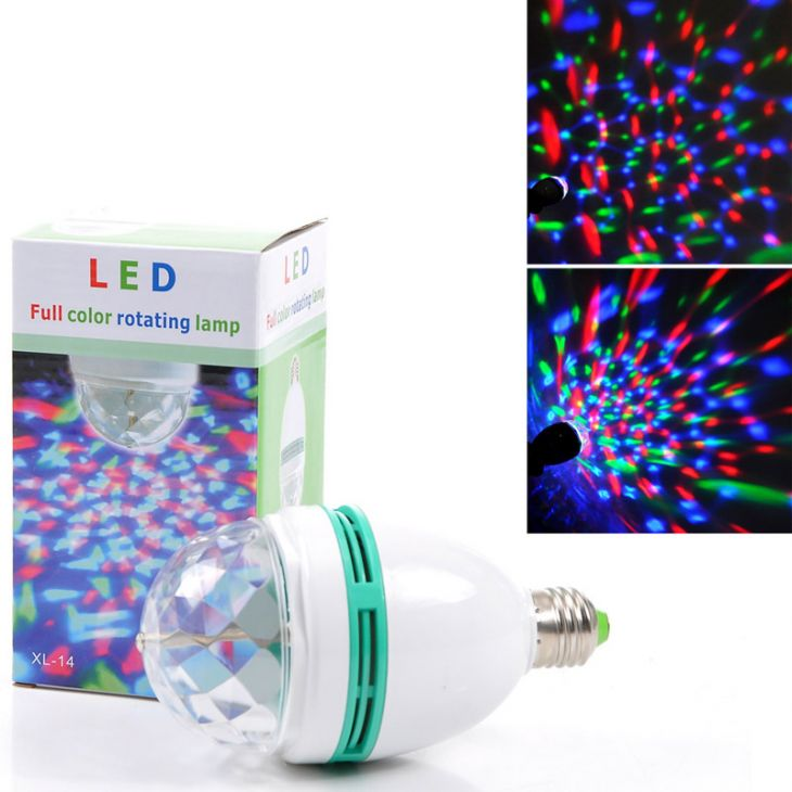 Лампа вращающаяся разноцветная LED Full Color