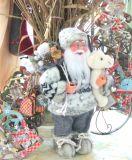Санта Клаус с Мишкой и мешком с подарками 30 см